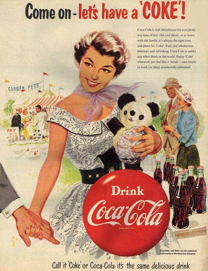 Anuncio de Coca-Cola en 1954.