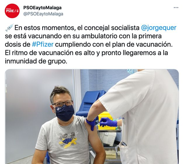 Un concejal del PSOE se