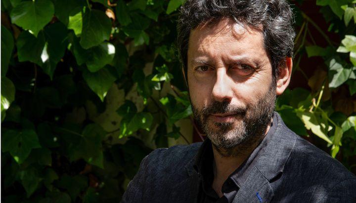 Manuel Ríos San Martín, durante la presentación de su libro