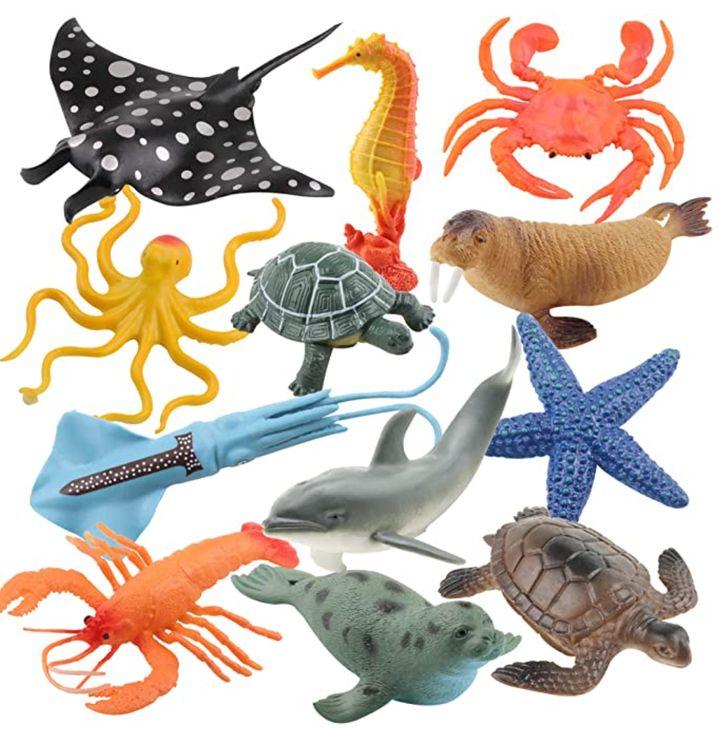 Toy Sea Animal Set (12 pack)