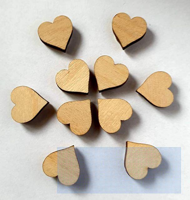 Mini Wooden Love Heart Fridge Magnets