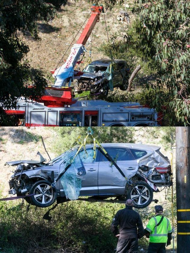 타이거 우즈가 차량 전복 사고를 당했던 당시 차의