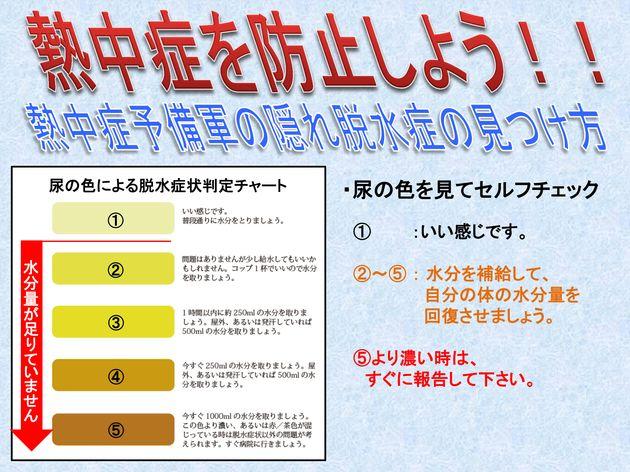 尿の色を見てセルフチェックする方法