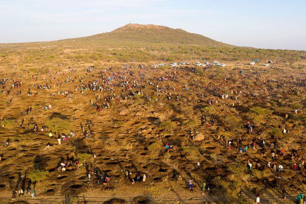 未確認の鉱石発見で「ダイヤモンド」ラッシュに沸く南アフリカ東部の原野