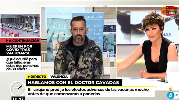 Sonsoles Ónega entrevistando al doctor