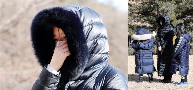 배우 이영애가 5일 경기 양평 공원묘지를 찾아 16개월 영아 정인(가명)양을 추모하고