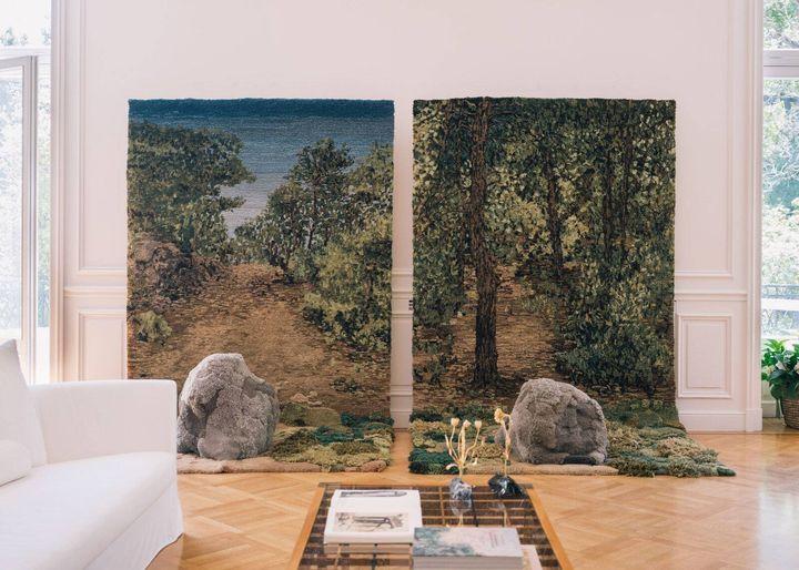 Το έργο της Αλεξάνδρας Κεχαγιόγλου στην αίθουσα υποδοχής.