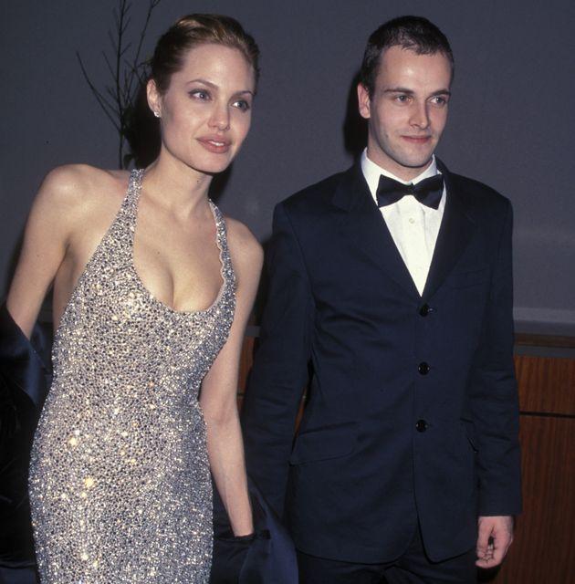 1999년 골든 글러브 어워드에서 안젤리나 졸리와 조니 리