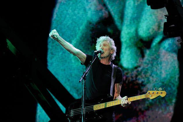 Roger Waters en una actuación en el Circo Máximo de Roma el 14 de julio de
