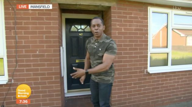 Presumably not the reaction Andi Peters was hoping