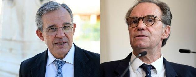 Les deux candidats aux régionales 2021, Thierry Mariani, pour le Rassemblement National (RN) et...