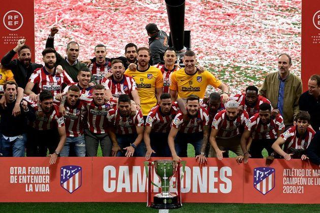 El Atlético de Madrid celebra su título