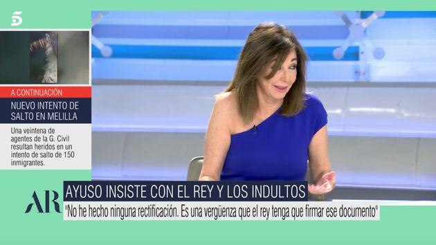 Ana Rosa Quintana este miércoles en
