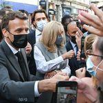 Macron sur les terres de Bertrand avant le premier tour, uniquement pour parler