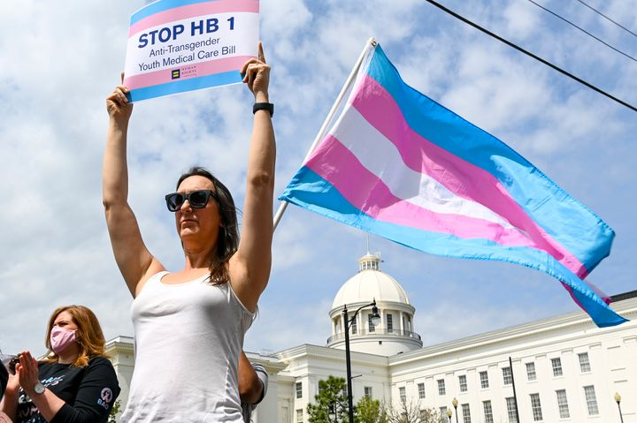Alabama activists rallying against a bill that would have blocked trans youth from accessing vital health care needs. The bil