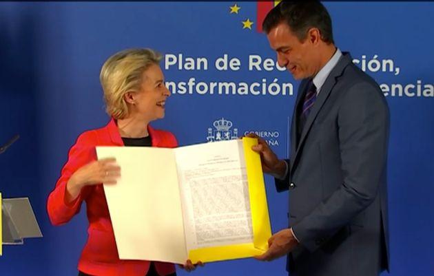 Pedro Sánchez y Ursula Von der Leyen presentan el plan de