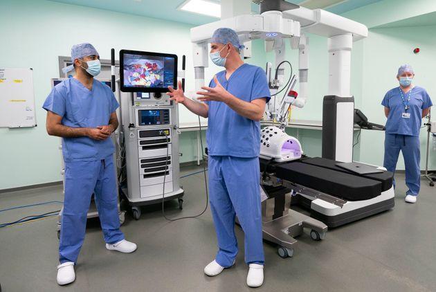 Médicos en un