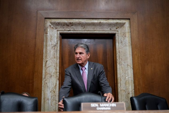 Sen. Joe Manchin (D-W.Va.) is the lone Democratic senator who does not support the party's top legislative priority, a packag