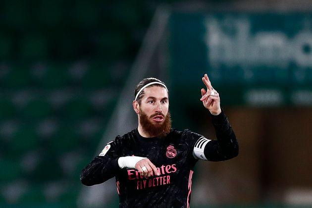 Sergio Ramos en un Elche-Real Madrid de