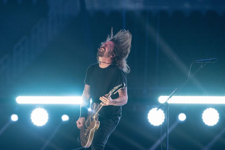 The Foo Fighters perform at the Vax Live concert on May 2, 2021, in Inglewood, California.