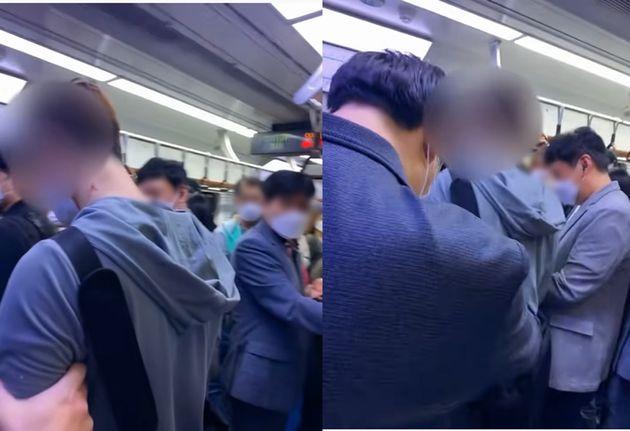 '지하철 담배 빌런' 영상
