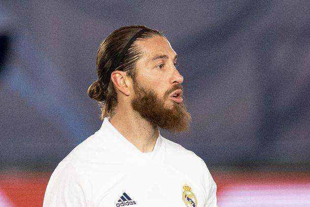 Sergio Ramos en el partido contra el