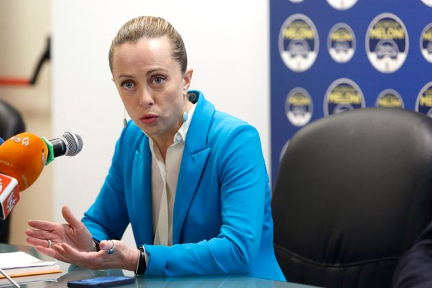 The president of Fratelli d'Italia party Giorgia Meloni during the press conference to present the parliamentary...