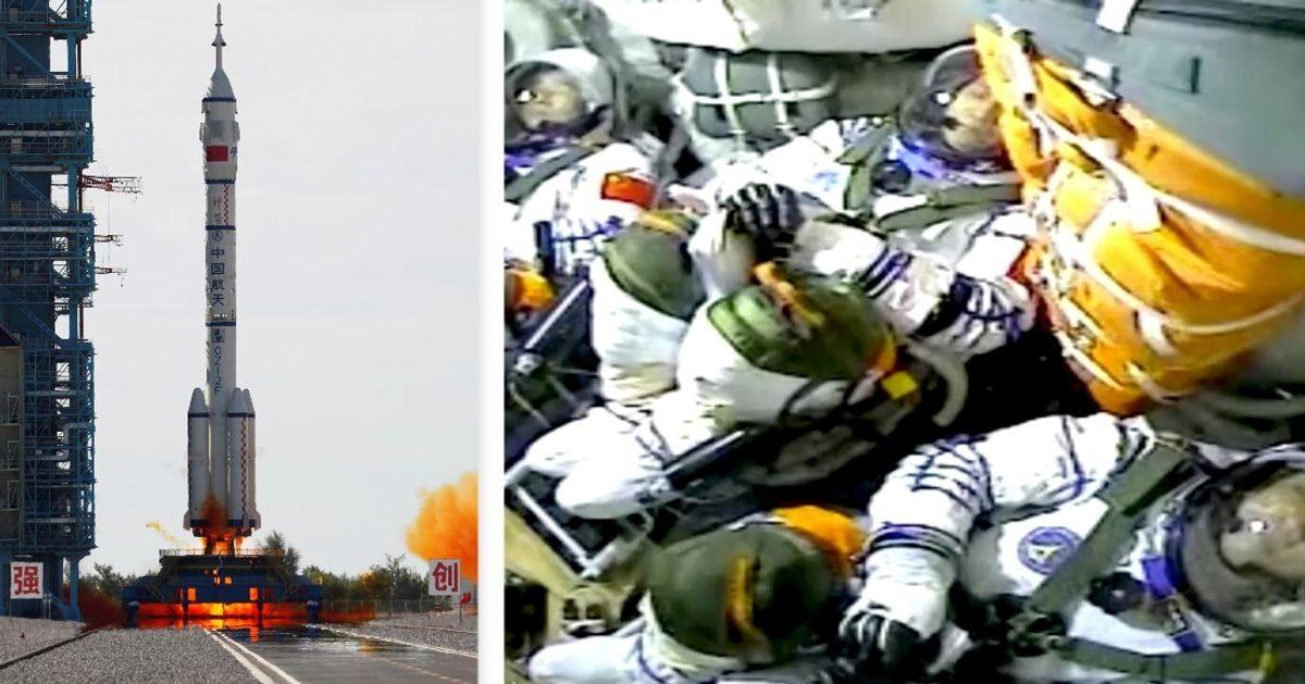 I cinesi nello spazio, lanciati primi tre astronauti verso modulo Tianhe