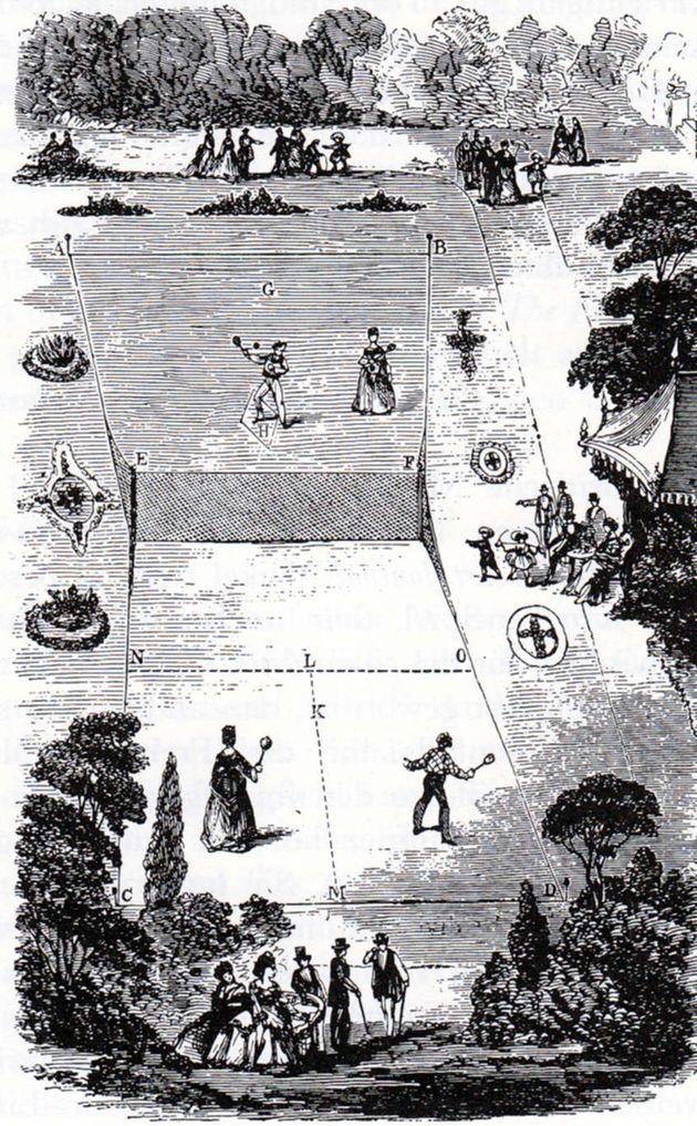 Το γήπεδο τένις όπως το σχεδίασε ο Walter Clopton Wingfield το