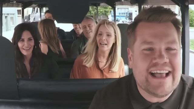 'Friends' Stars Do Mini 'Carpool Karaoke,' James Corden 'Nearly' Kills Them.jpg