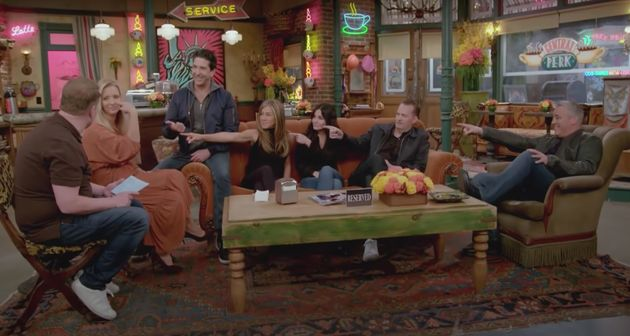 The cast of Friends with James