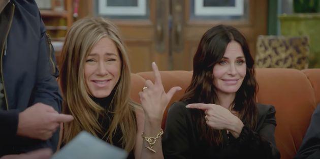 Jennifer Aniston and Courteney