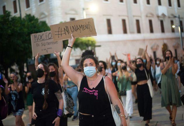 Concentración en Málaga contra la violencia machista, el pasado 12 de