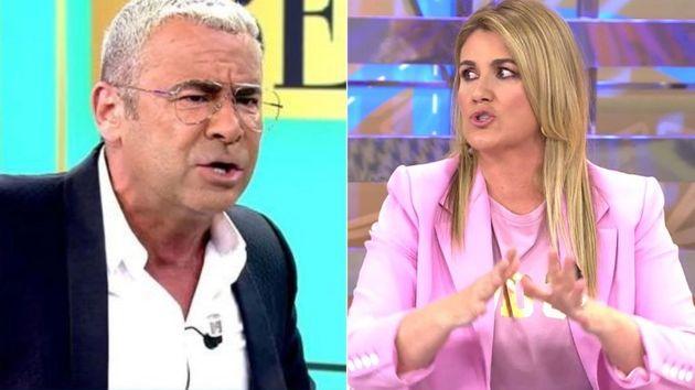 Los presentadores de 'Sálvame', Jorge Javier Vázquez y Carlota Corredera, en el plató de