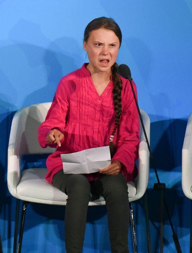 国連気候変動サミットでスピーチしたグレタ・トゥーンベリさん