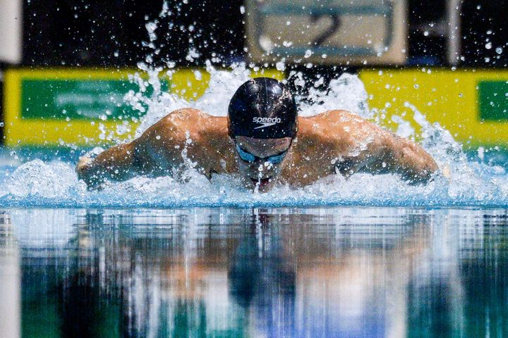 Cody Simpson recorded personal bests in the 100-meter freestyle and butterfly events at the trials but did not qualify.
