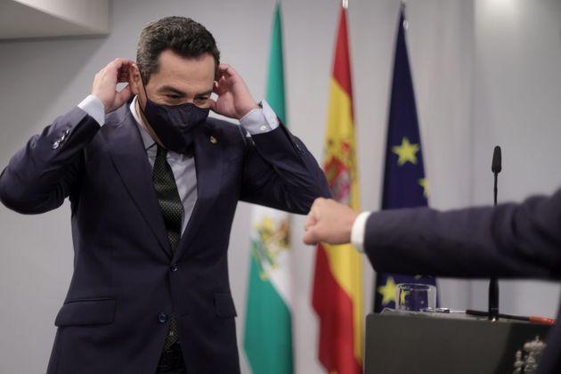 El presidente de la Junta de Andalucía, Juanma Moreno, este jueves, en
