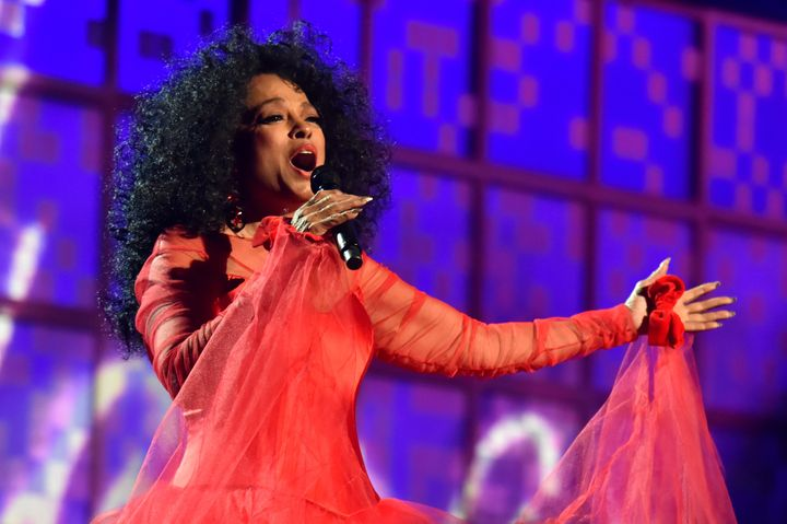 Diana Ross performs during the Grammy Awards in 2019.