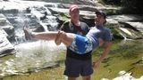 The author (right) and Doug at Umpachene Falls, New Marlborough, Massachusetts.