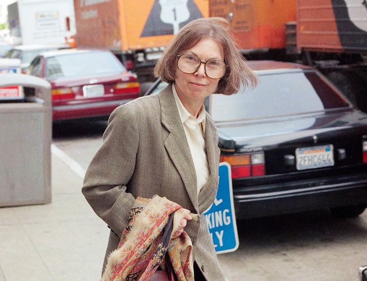 The New Yorker writer Janet Malcolm leaves the Federal Courthouse in San Francisco on June 3, 1993, in the suit trial brought