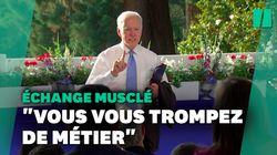 Joe Biden s'excuse après s'être emporté contre une journaliste de