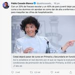 Este tuit de Pablo Casado lleva más de 3.000 respuestas y parece bastante evidente por