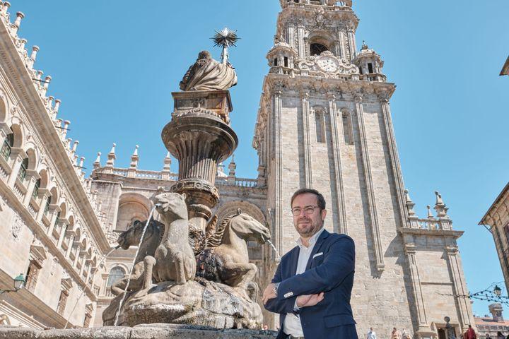 Javier Sierra en Santiago de Compostela.
