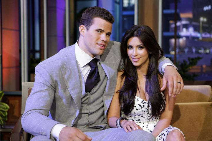 """Kris Humphries and Kardashian on """"The Jay Leno Show"""" on Oct. 4, 2011, just days before Kim filed for divorce."""