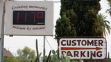 PHOENIX, AZ - JUNE 15: A thermometer sign displays a temperature of 117 degrees Fahrenheit on June 15, 2021 in Phoenix, Arizona. The National Weather Service has issued an excessive heat warning for much of central Arizona, which is expected to be in effect through the weekend. (Photo by Caitlin O'Hara/Getty Images)