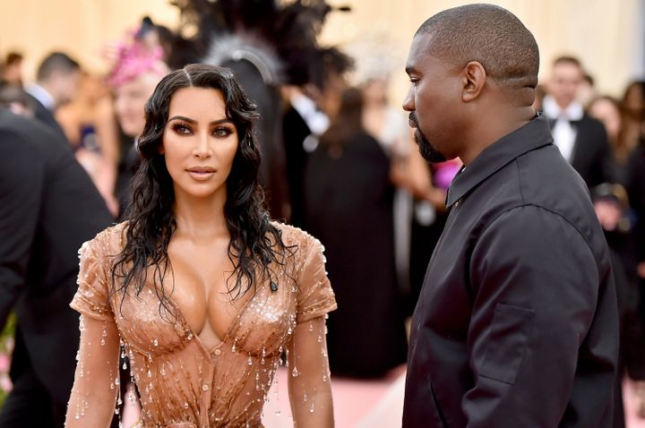 Kardashian and West at the 2019 Met Gala in New York City.