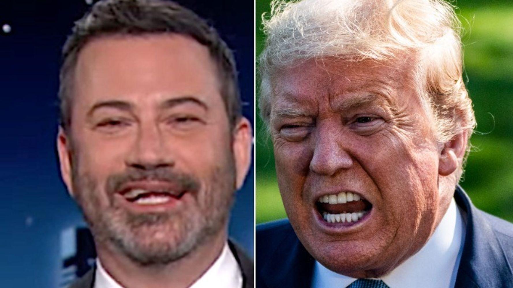 Jimmy Kimmel Spots The Weirdest Line In Trump's Big Speech