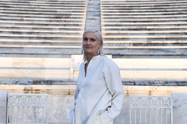 Η Ιταλίδα σχεδιάστρια μόδας του οίκου Christian Dior's, Μαρία Γκράτσια Κιουρί.