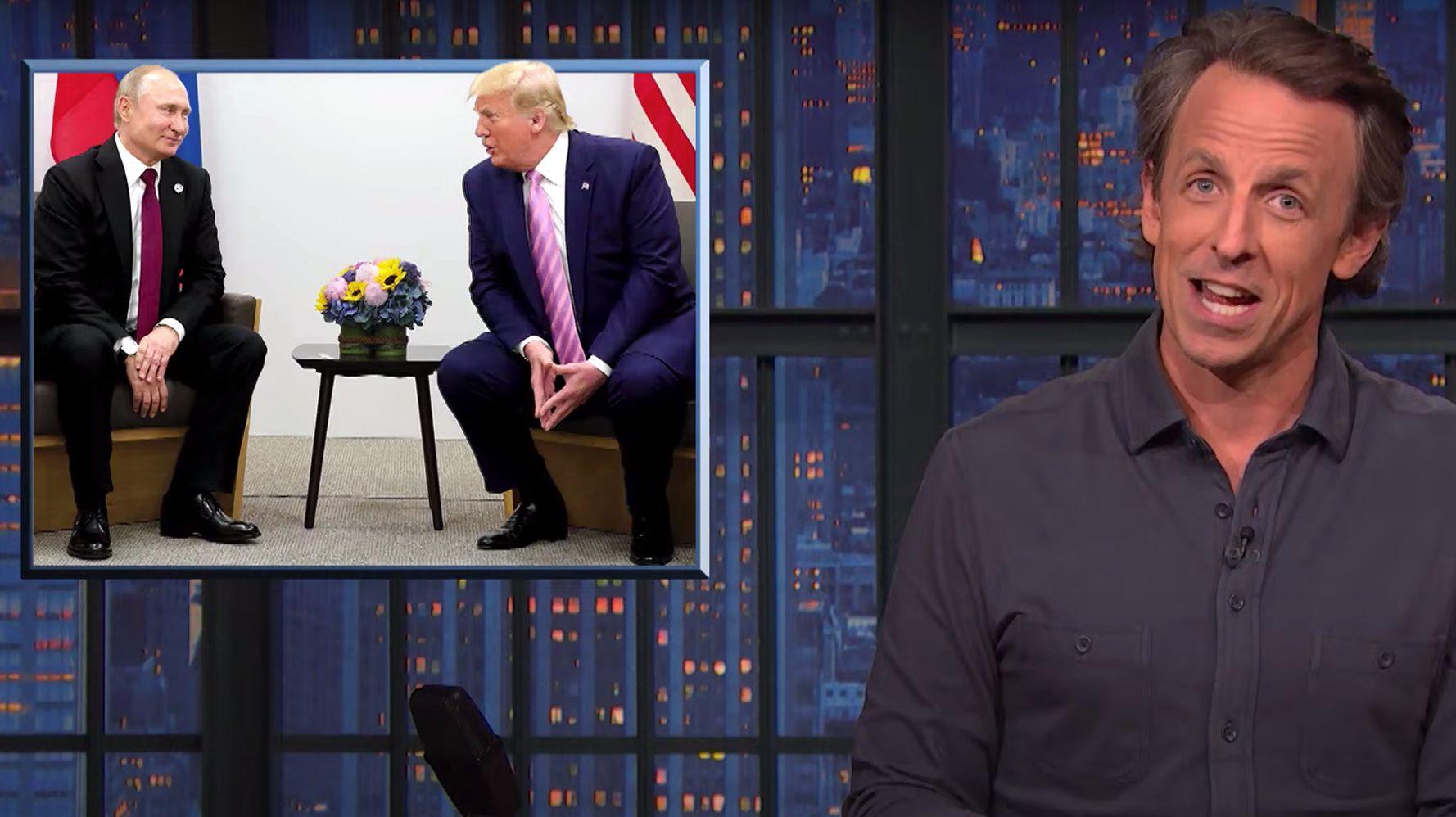 Seth Meyers Nails Fox News' Stunning Hypocrisy About Biden-Putin Summit