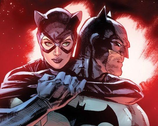 Portada de uno de los cómics de Batman y Catwoman.